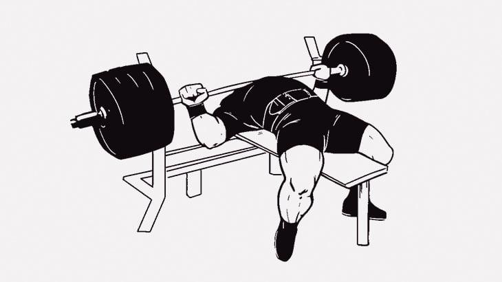 【閲覧注意】マッチョな男さん、ベンチプレス中に右胸の筋肉がボコッと動いてしまう・・・(動画)