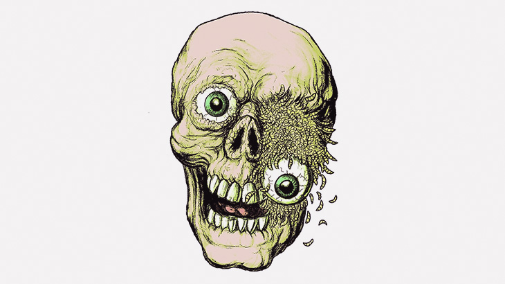 【閲覧注意】この男性、生きたまま左目をウジ虫に食われてる・・・(動画)
