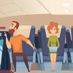 飛行機内で喚き散らす男、椅子にテープでグルグル巻きにされる(動画)
