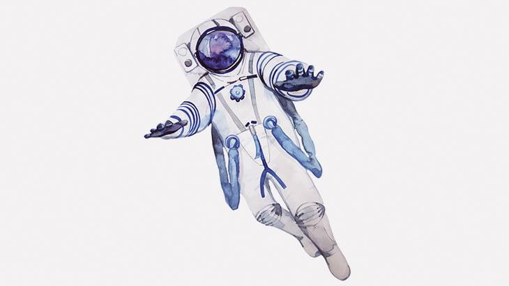 宇宙からベースジャンプする男(動画)