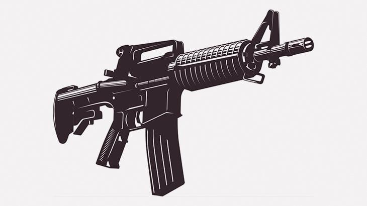 空に向かって銃を撃っていた男、ミスって人を撃ちそうになった後も撃ち続ける(動画)