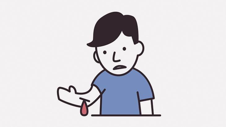 【閲覧注意】自分の腕を切ってサムズアップする男(動画)