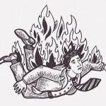 泥棒の男、まだ生きてるのに燃やされてしまう(動画)