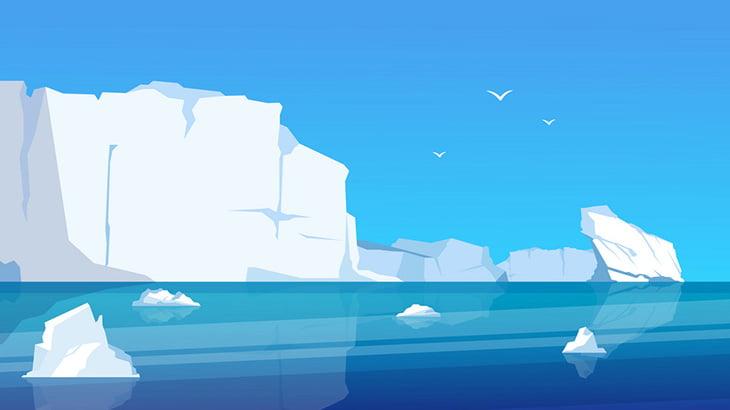 氷河が崩れ落ちる瞬間、大迫力(動画)