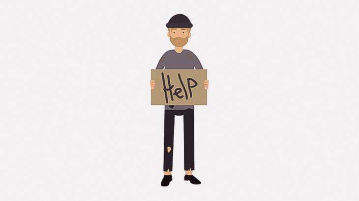 ただ歩いていただけのホームレスの男性、ボコられてしまう(動画)