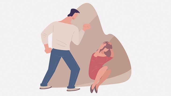 テレビ電話中の女性、元夫に暴行されまくってしまう(動画)