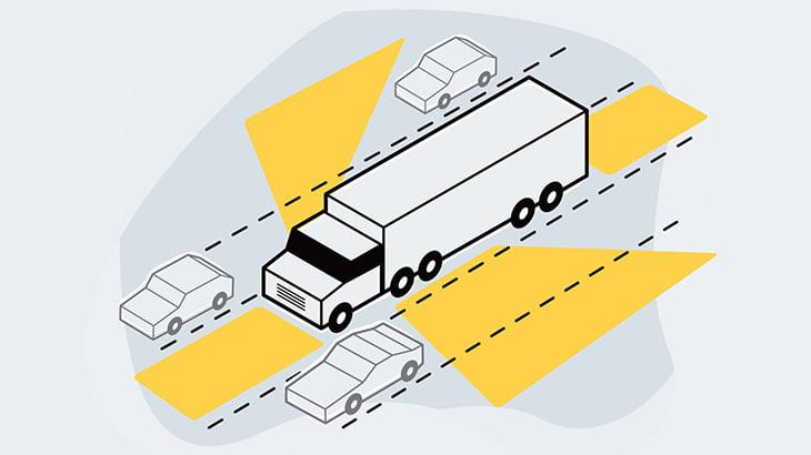 信号待ちのトラックの前を横切ろうとした男、轢かれて死亡(動画)