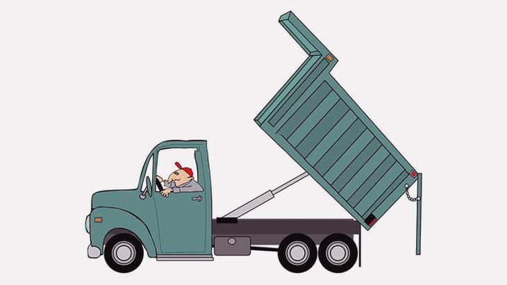 トラックの荷台を上げて作業中だった男たち、潰されて死亡(動画)