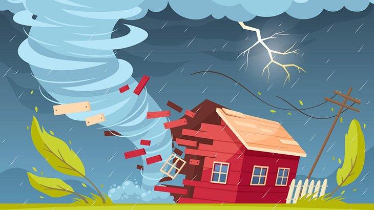 風速116mの竜巻に襲われると民家はこうなる(動画)