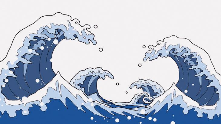 【中国】台風で荒れた海を見てテンション上げる人々(動画)
