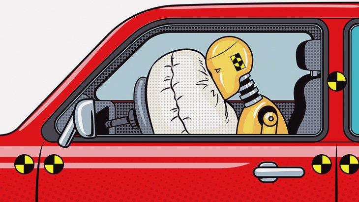 【閲覧注意】事故った女ドライバーの顔、破裂・・・(動画)