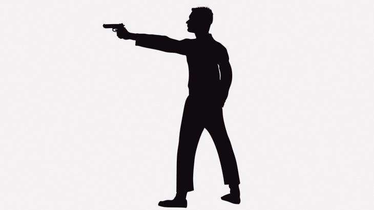 銃を持った男に後ろから忍び寄るこの男、かっこ良すぎwwww(動画)