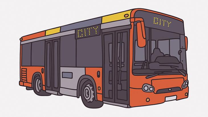 左折するバス、横断歩道の歩行者を轢いてしまう(動画)