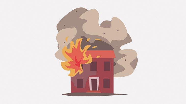火事が起きた部屋に閉じ込められた女性、生きたまま燃えて死亡・・・(動画)
