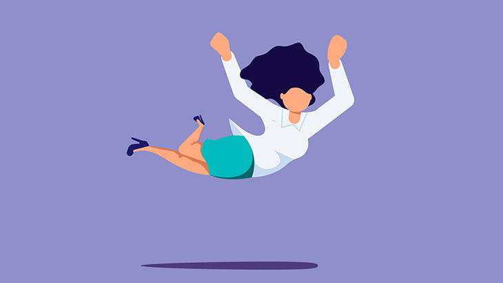【閲覧注意】女性がベランダから飛び降りる → 電線に触れて感電(動画)