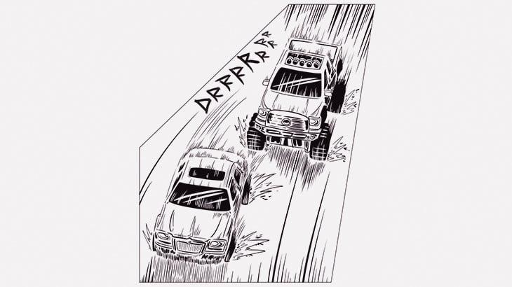 車をつぎつぎ奪いながら警察から逃げる男(動画)