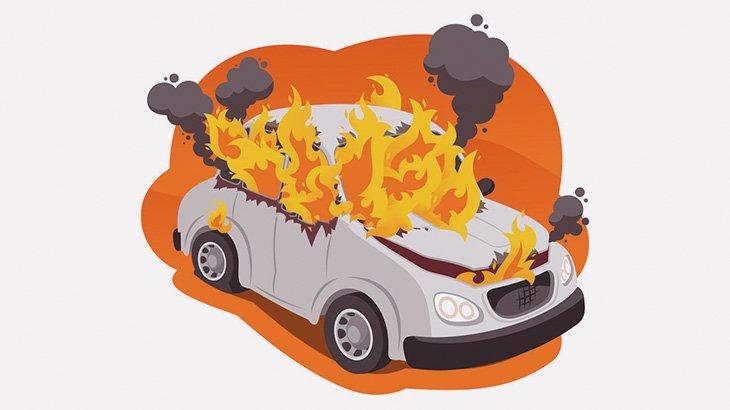 【閲覧注意】事故で炎上した車内に取り残されたドライバー、ちょっと動いてるような・・・(動画)