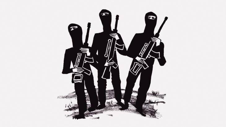 【閲覧注意】銃で頭を吹き飛ばされる5人の捕虜(動画)