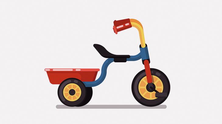 三輪車で遊んでた子供、バスに轢かれて死亡・・・(動画)