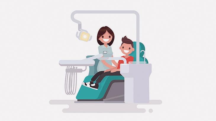 歯間に電動カッターをつぎつぎ挿し込んでいく手術映像