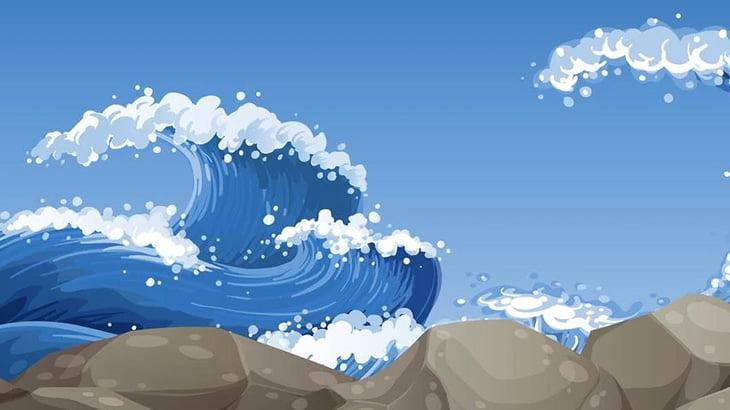 波打ち際にダイブチャレンジした女性、当然のように溺れる(動画)