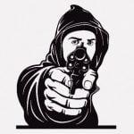 帰宅した男性を狙った強盗、瞬殺される(動画)