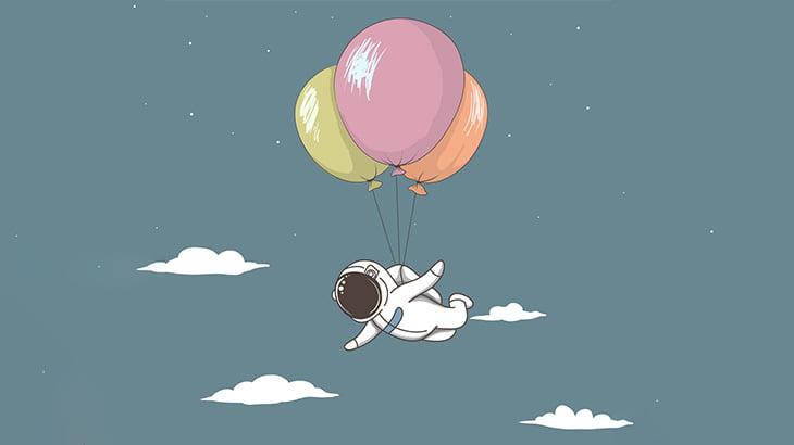 大量の風船で空に飛び立った男、落下して死亡・・・(動画)