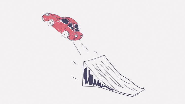 暴走した車、映画みたいなことしてしまう(動画)