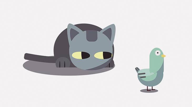 猫を撮影していた男の子、衝撃の展開に驚愕(動画)