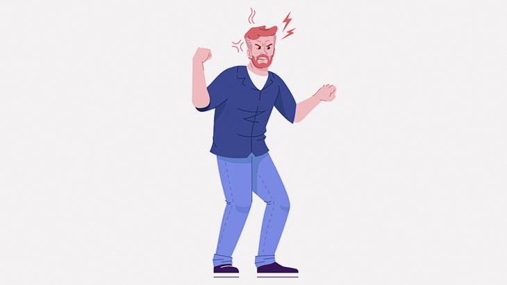 喚き散らして威嚇する男、ワンパンノックアウト(動画)