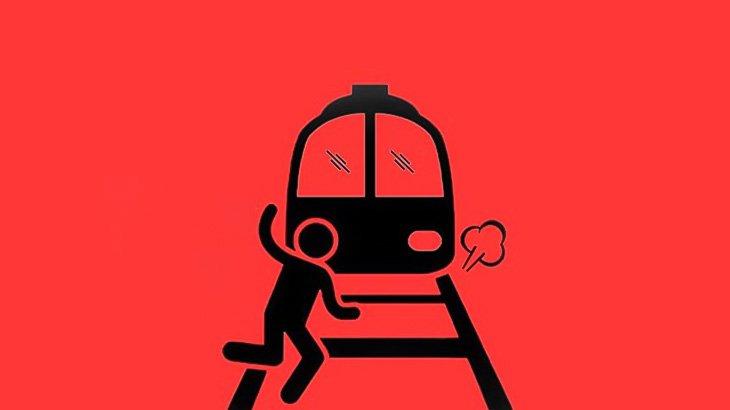【閲覧注意】線路に落ちた義足の男性、胴体グチャグチャ・・・(動画)