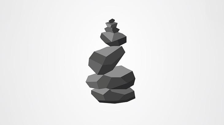 絶妙なバランスで立っていた岩にちょっかい出した男、潰されてしまう(動画)