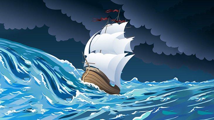 海が荒れてる時の船内は「こんなこと」になってる(動画)