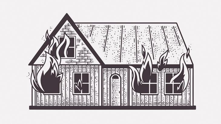 【閲覧注意】消火した部屋から丸焦げになって発見された女性(動画)