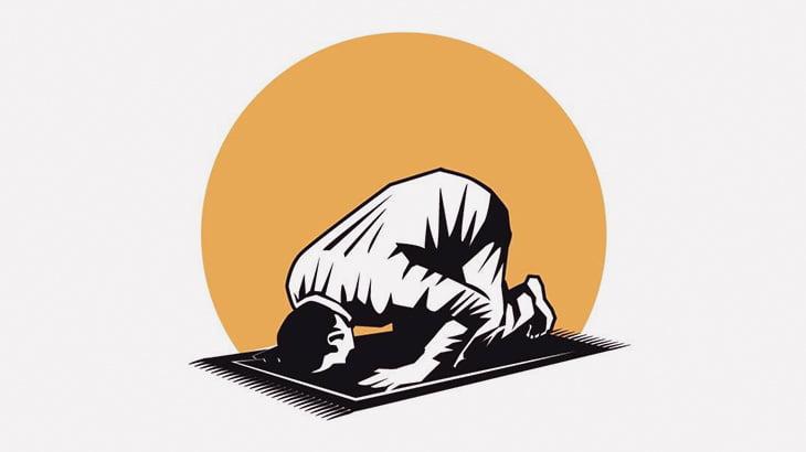 イスラム教信者の男、祈りを捧げている途中で死亡・・・(動画)