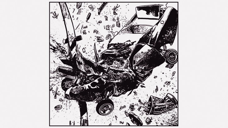 【閲覧注意】事故ったドライバーの顔、ぱっかり割れてしまう・・・(動画)
